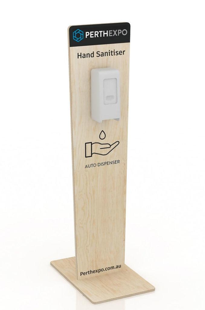 Plywood Sanitiser Dispenser Stand